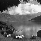 People Enjoying the Mountain Lake Photographic Print by Carl Mydans