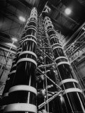 Lightning Maker is This 44 Foot High Generator, Creating Artificial Lightning Premium Photographic Print by Andreas Feininger