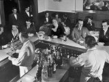 Patrons Enjoying the Ambiance at This Popular Speakeasy, a Haven For Drinkers During Prohibition Premium Photographic Print by Margaret Bourke-White