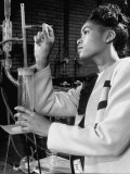 Howard University Student Working in Laboratory Premium Photographic Print by Alfred Eisenstaedt