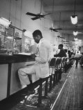 African American Student Virginius B. Thornton During a Sit Down Strike at a Lunch Counter Premium Photographic Print by Howard Sochurek