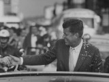 Senator John F. Kennedy During Campaigning Premium Photographic Print by Paul Schutzer