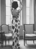 French Fashion Evening Dresses Sold at Ohrbach's Photographic Print by Ralph Morse