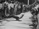 1st Intercollegiate Skateboarding Championship at Wesleyan University Photographic Print by Bill Eppridge