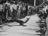1st Intercollegiate Skateboarding Championship at Wesleyan University Premium Photographic Print by Bill Eppridge