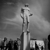 View Showing the Astronomer Statue at the New York World's Fair Photographic Print by David Scherman