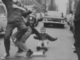 Boys Skateboarding in the Streets Premium Photographic Print by Bill Eppridge