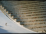 90 Meter Ski Jump During the 1972 Olympics Photographic Print by John Dominis