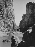 Excursionists Paddle Down Rio Grande River in Big Bend National Park Premium Photographic Print by Dmitri Kessel