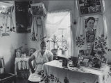 Dairy Maid Sitting in Her Home Premium Photographic Print by Jerry Cooke