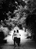 Friends Taking a Walk on a Typical Summer Day Premium Photographic Print by Robert W. Kelley