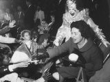 First Lady Bird Johnson Sitting at the Circus Surrounded by Children Premium Photographic Print by Francis Miller