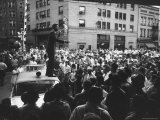 John F. Kennedy Giving Speech Premium Photographic Print by Hank Walker