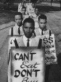 African Americans on Picket Line, Protesting Treatment at Lunch Counter Photographic Print by Howard Sochurek