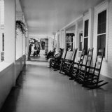 Rockers Row at Old Clubhouse of Harbor Point Association Photographic Print by Walker Evans