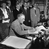 President Franklin D. Roosevelt, Signing the G.I. Bill Photographic Print by George Skadding