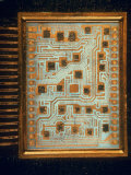 Enlargement of IBM Computer Switching Unit Containing 26 Circuitry Chips Photographic Print by Henry Groskinsky