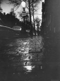 Beacon Hill Street at Dusk Has Eerie Aspect During Wave of Stranglings Premium Photographic Print by Art Rickerby