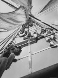 Girls on the Sailing Ship Yankee Premium Photographic Print by Lynn Pelham