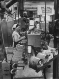 The Final Assembly Line, in a Plant Near Moscow Premium Photographic Print by James Whitmore