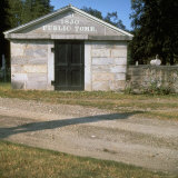 1850 Mausoleum denoted as Public Tomb in old 18-19th century graveyard Photographic Print by Walker Evans