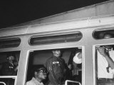 African Americans, Guarded by National Guardsmen, and Being Bussed Out of Town Premium Photographic Print by Stan Wayman
