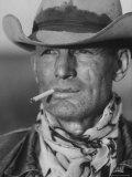 Clarence Hailey Long, Texas Cowboy Premium Photographic Print by Leonard Mccombe