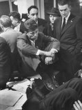 John F. Kennedy on Election Night Premium Photographic Print by Yale Joel
