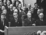 John F. Kennedy at Samuel Rayburn's Funeral Premium Photographic Print by Michael Rougier