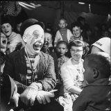Former College Professor Charles Boas Performing as a Circus Clown Photographic Print by Francis Miller