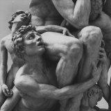 "Detail Sculpture ""Ugolino"" by Jean Baptiste Carpeaux at Music Des Beaux Arts Photographic Print by Carlo Bavagnoli"