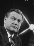 Gov. Nelson Rockefeller During Press Conference Premium Photographic Print by Stan Wayman