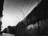Communist Built Wall Dividing East from West Berlin Premium Photographic Print by Paul Schutzer