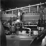 "Copper and Brass Engine of 1914 Rolls Royce Model ""Silver Ghost Tourer"" Photographic Print by Walker Evans"