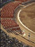 Japan Marching Into the Olympic Stadium Most Likely at the Opening Ceremony of Summer Olympics Premium Photographic Print by Art Rickerby
