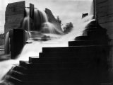 Cascading Waterfalls Called Lovejoy, Designed by Lawrence Halprin Photographic Print by Fred Lyon