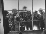 Fans Peering at Elvis Presley, Just Back in the Us After Army Duty Premium Photographic Print by Al Fenn