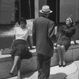 Women Sunbathing Outside the Time and Life Building Photographic Print by Leonard Mccombe