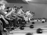 Boys Competing in Junior League Bowling Game Photographic Print by Ralph Crane