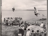 Eskimos Using Homemade Trampolines to Celebrate the End of Whaling Season Premium Photographic Print by Ralph Crane