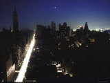 Street Scene During Blackout in New York City Premium Photographic Print by Bill Eppridge