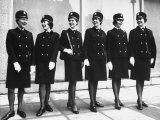 London Police Women Posing in New Uniforms Premium Photographic Print by Terence Spencer