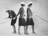 Dees Triplets Modeling Look Alike Outfits Photographic Print by Nina Leen