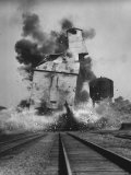 Rock Island Railroad Switch from Steam to Diesels Premium Photographic Print by Francis Miller