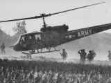 US Military Helicopters Premium Photographic Print by Larry Burrows