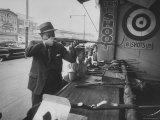 Man Shooting Rifle Premium Photographic Print by Stan Wayman