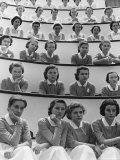 Student Nurses at Roosevelt Hospital Fotografisk tryk af Alfred Eisenstaedt