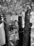 Children Playing in a Treehouse Premium Photographic Print by Arthur Schatz