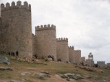 Wall Surrounding Avila Was Rebuilt by Alfonso VI in 1090 AD, 9 Gates Afford Entrance to the City Premium Photographic Print by Eliot Elisofon