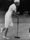Croquet Tournament, England Premium Photographic Print by Terence Spencer